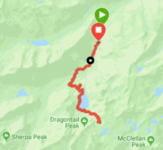 GPS track (my watch died with a 1/2 mile left to go)